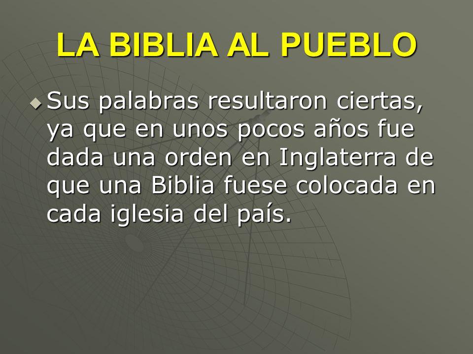 LA BIBLIA AL PUEBLO