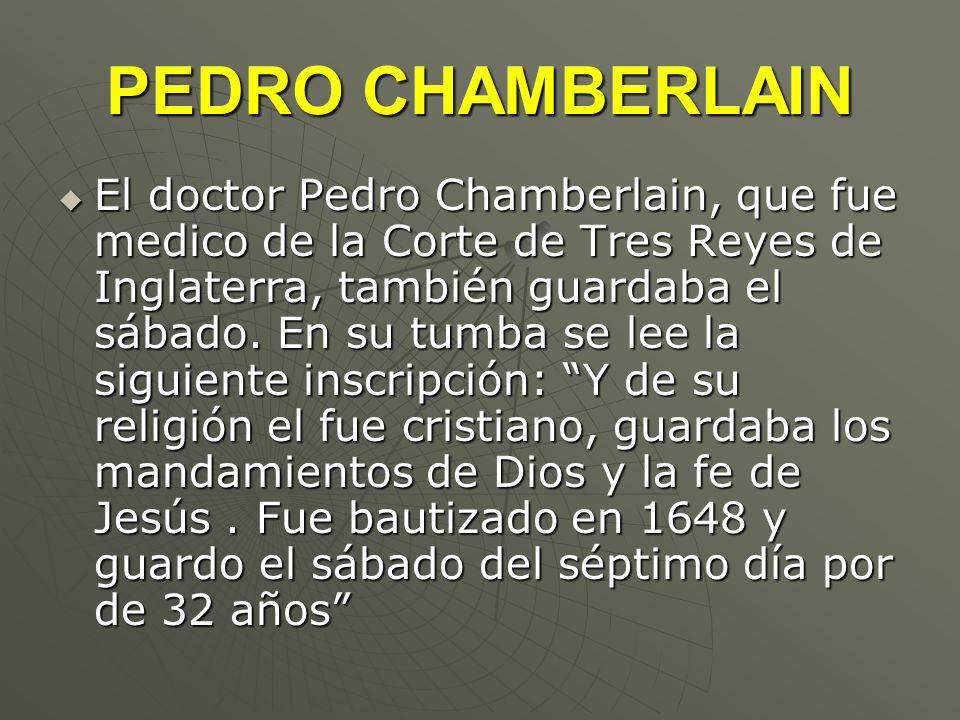 PEDRO CHAMBERLAIN