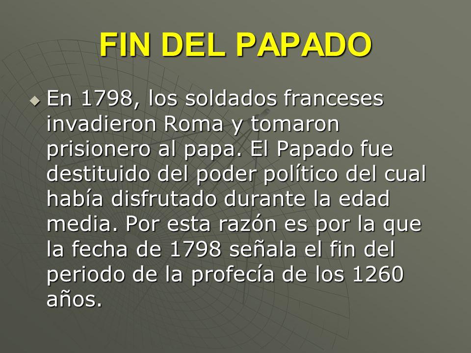 FIN DEL PAPADO