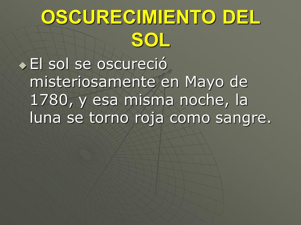 OSCURECIMIENTO DEL SOL