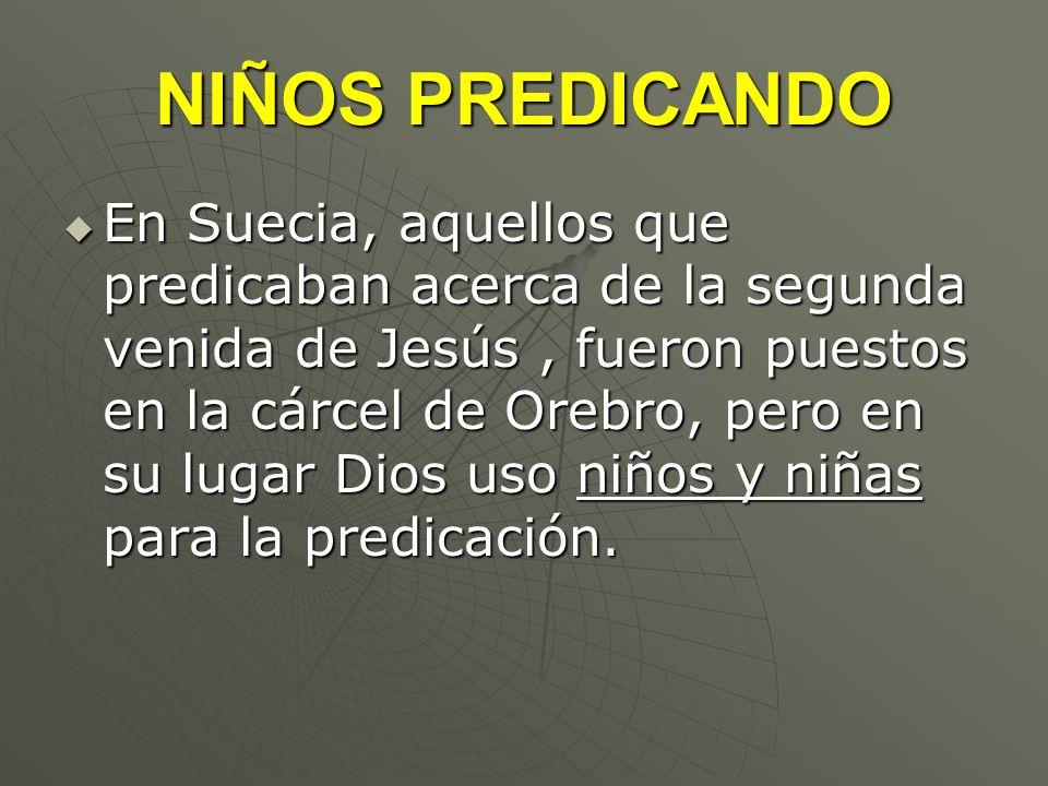 NIÑOS PREDICANDO