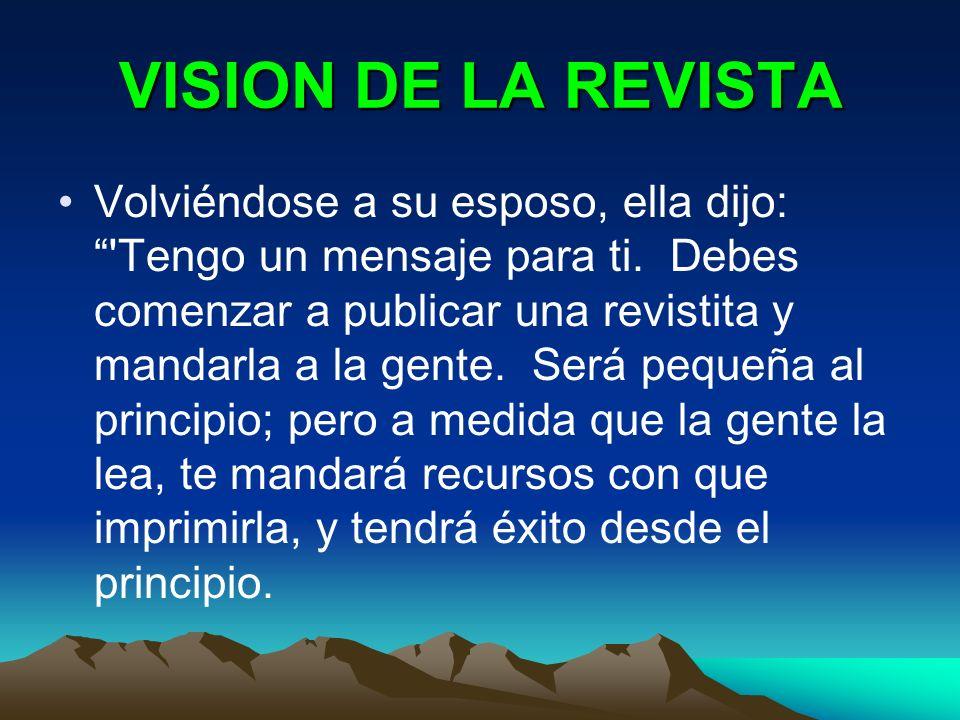 VISION DE LA REVISTA
