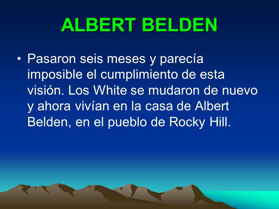 ALBERT BELDEN