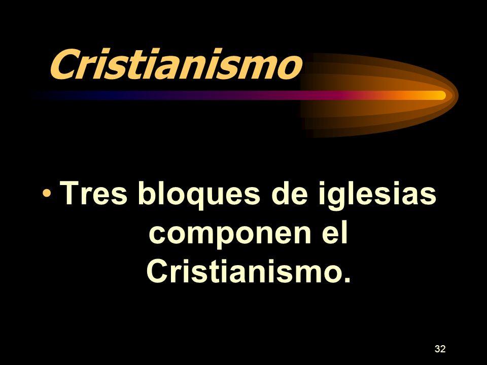 Tres bloques de iglesias componen el Cristianismo.