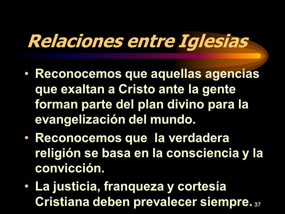 Relaciones entre Iglesias