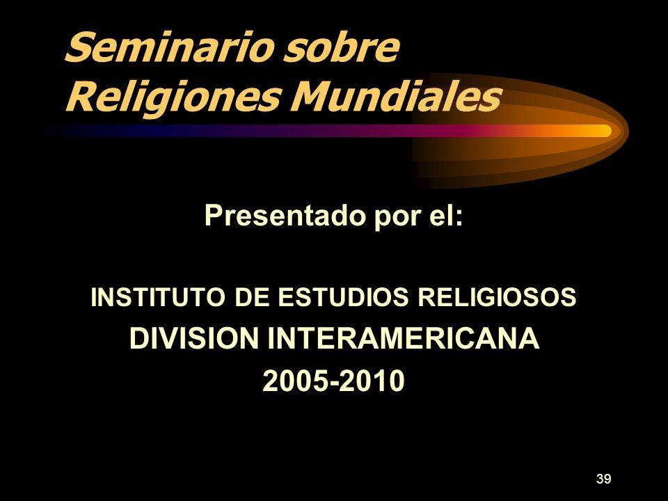 Seminario sobre Religiones Mundiales