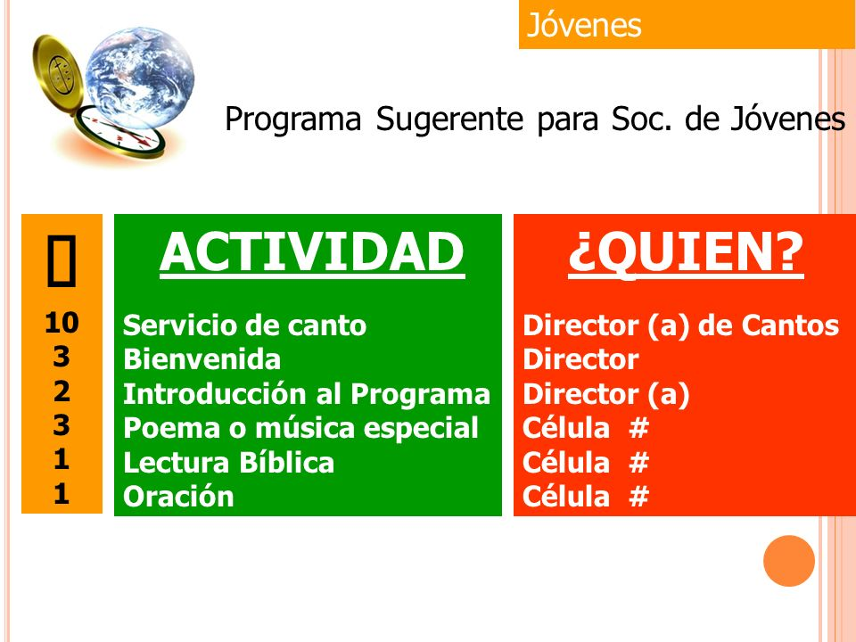 Programa Sugerente para Soc. de Jóvenes
