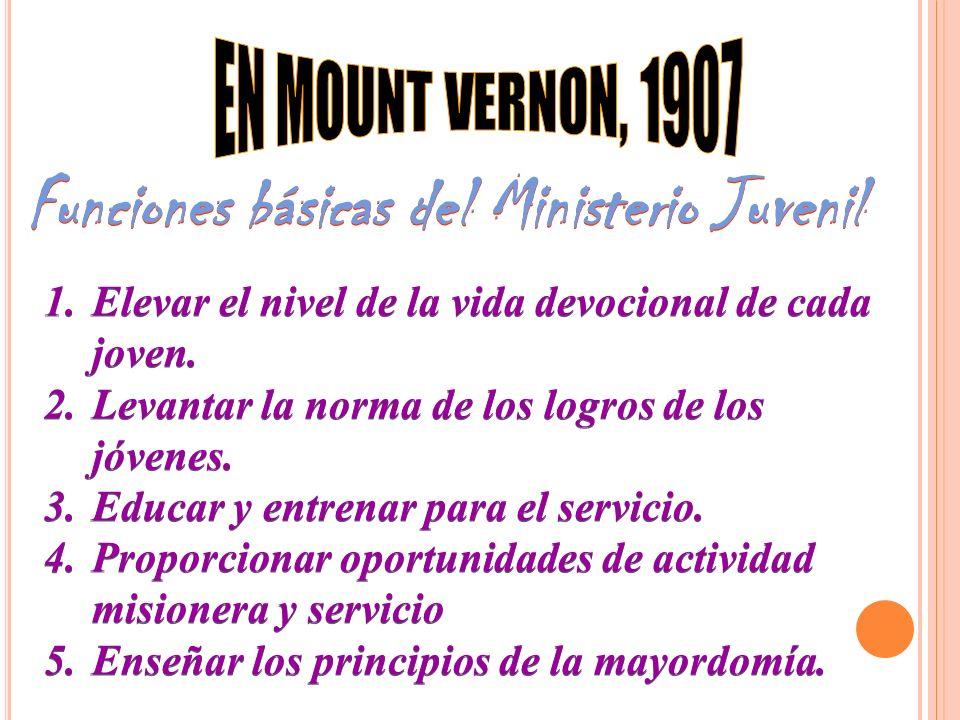 Funciones básicas del Ministerio Juvenil