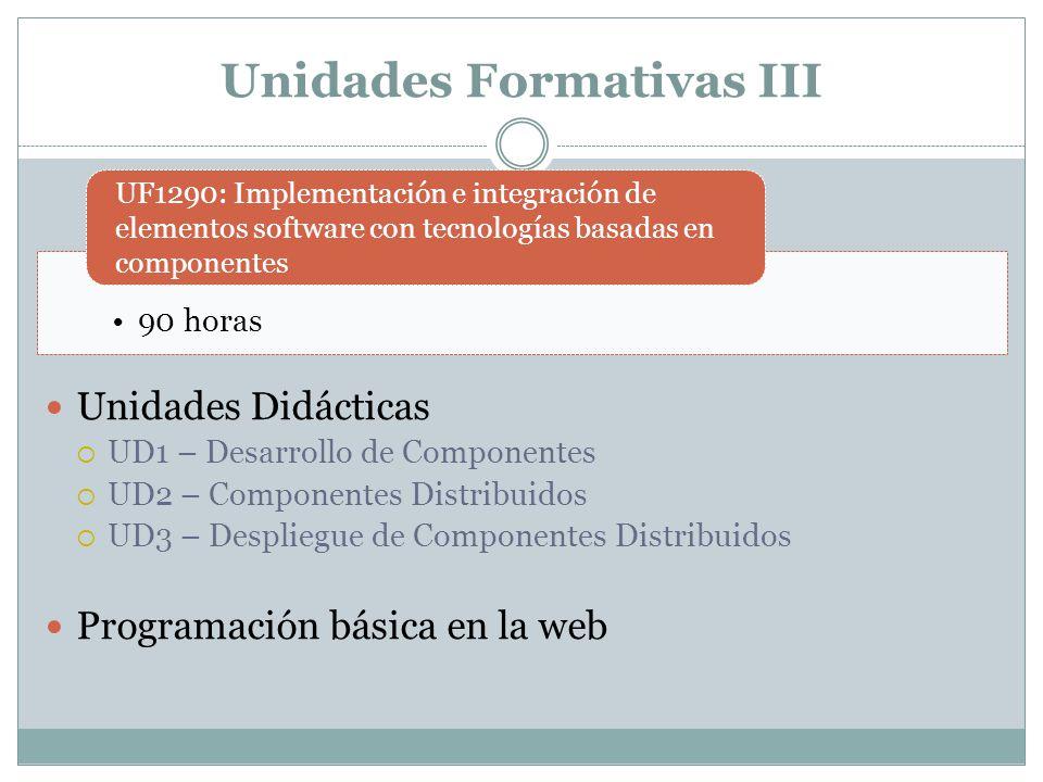 Unidades Formativas III