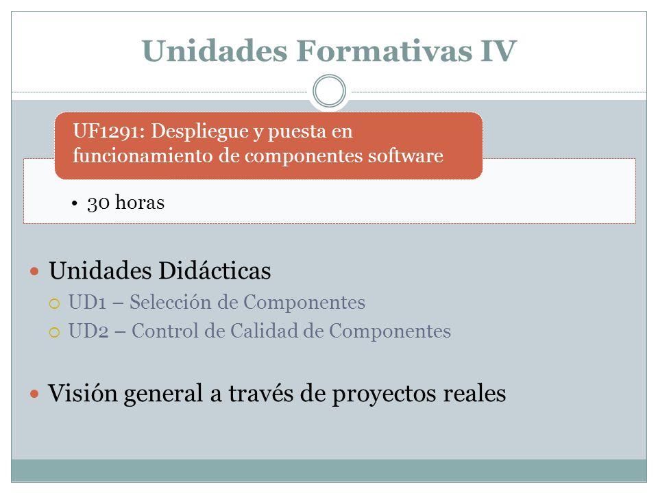Unidades Formativas IV