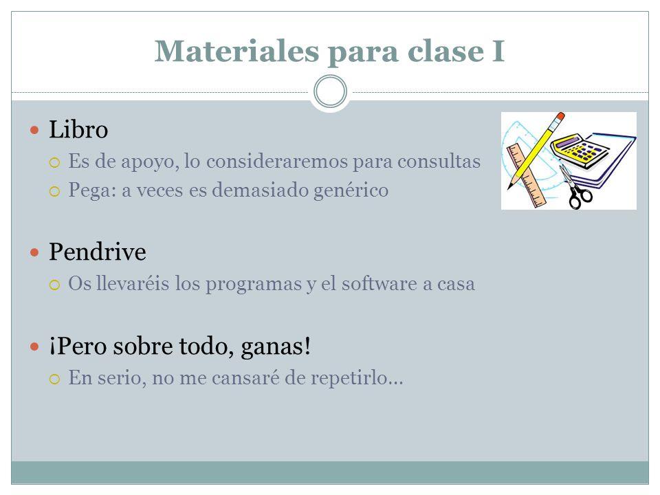 Materiales para clase I