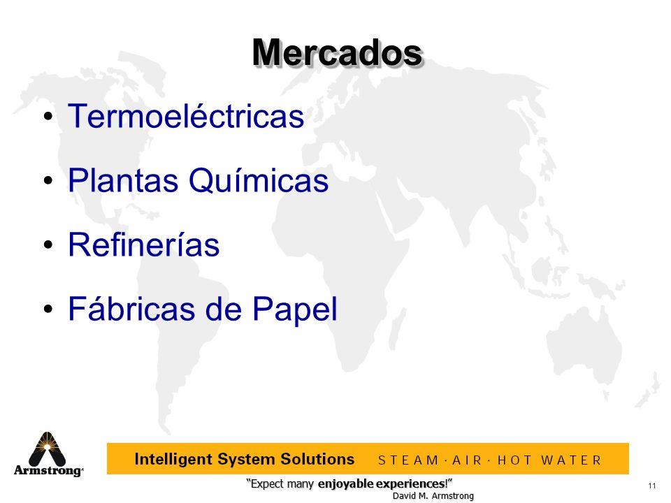 Mercados Termoeléctricas Plantas Químicas Refinerías Fábricas de Papel