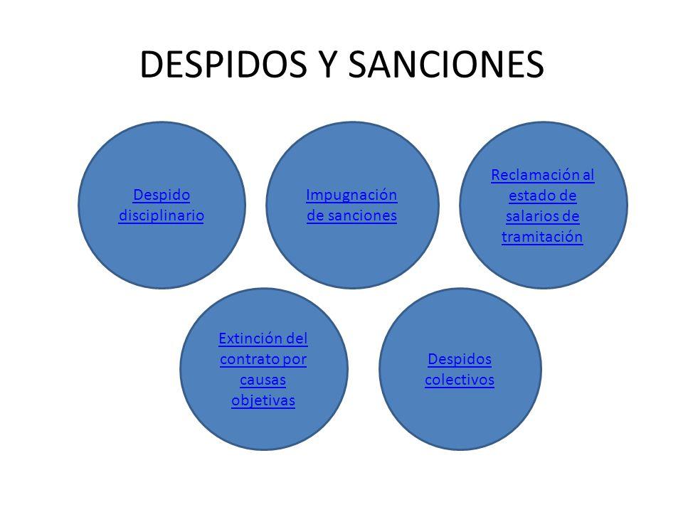 DESPIDOS Y SANCIONES Despido disciplinario Impugnación de sanciones