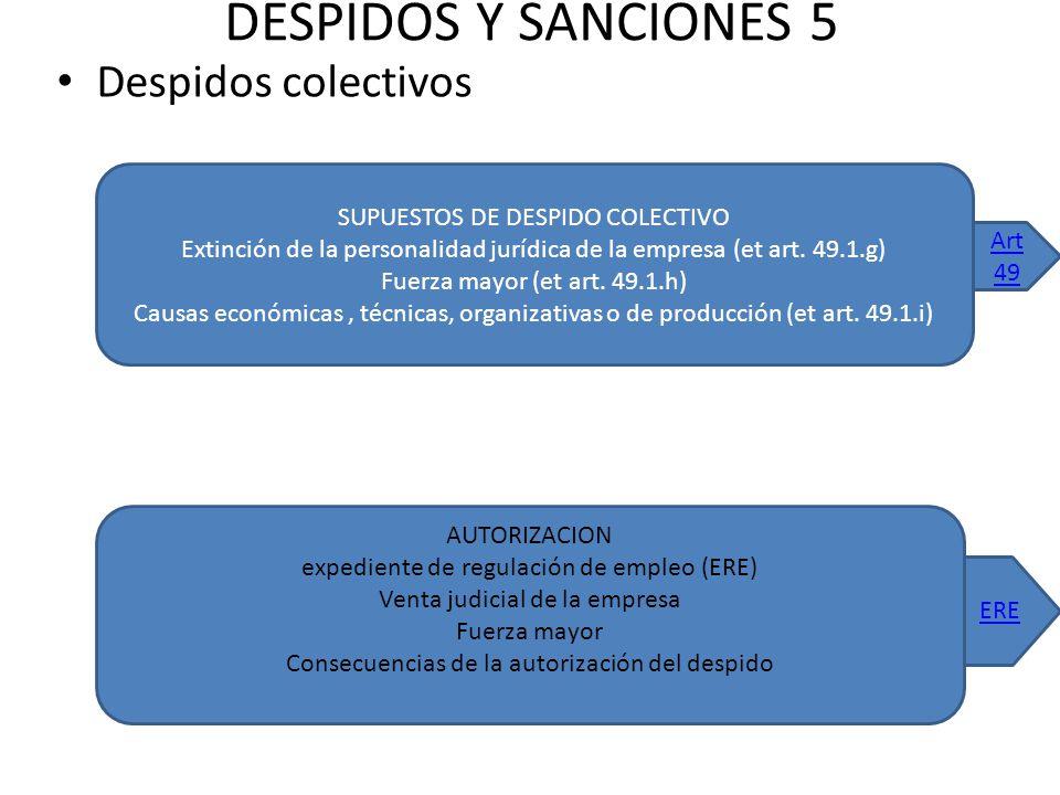 DESPIDOS Y SANCIONES 5 Despidos colectivos