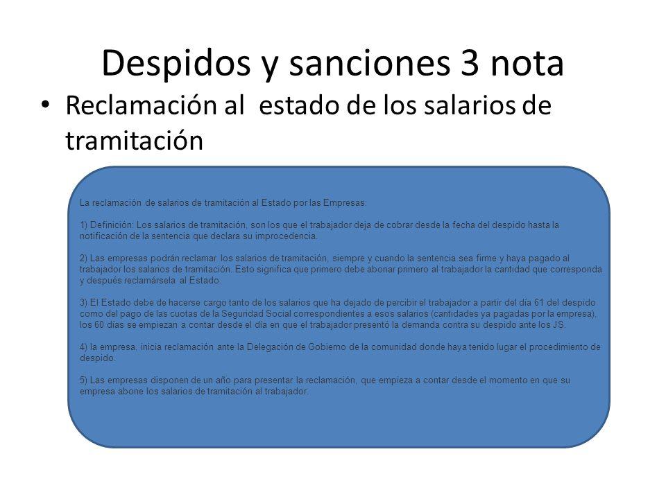 Despidos y sanciones 3 nota