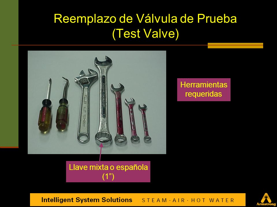 Reemplazo de Válvula de Prueba (Test Valve)