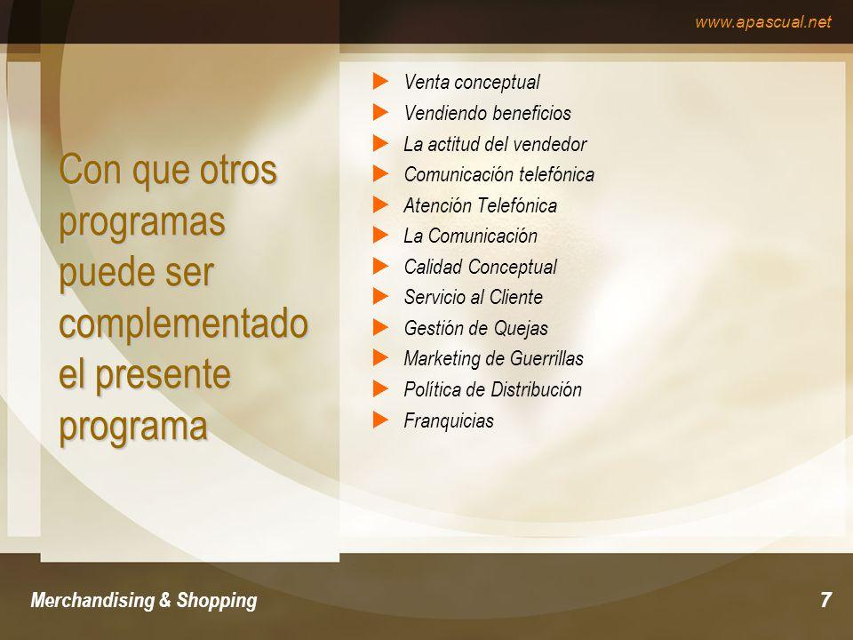 Con que otros programas puede ser complementado el presente programa