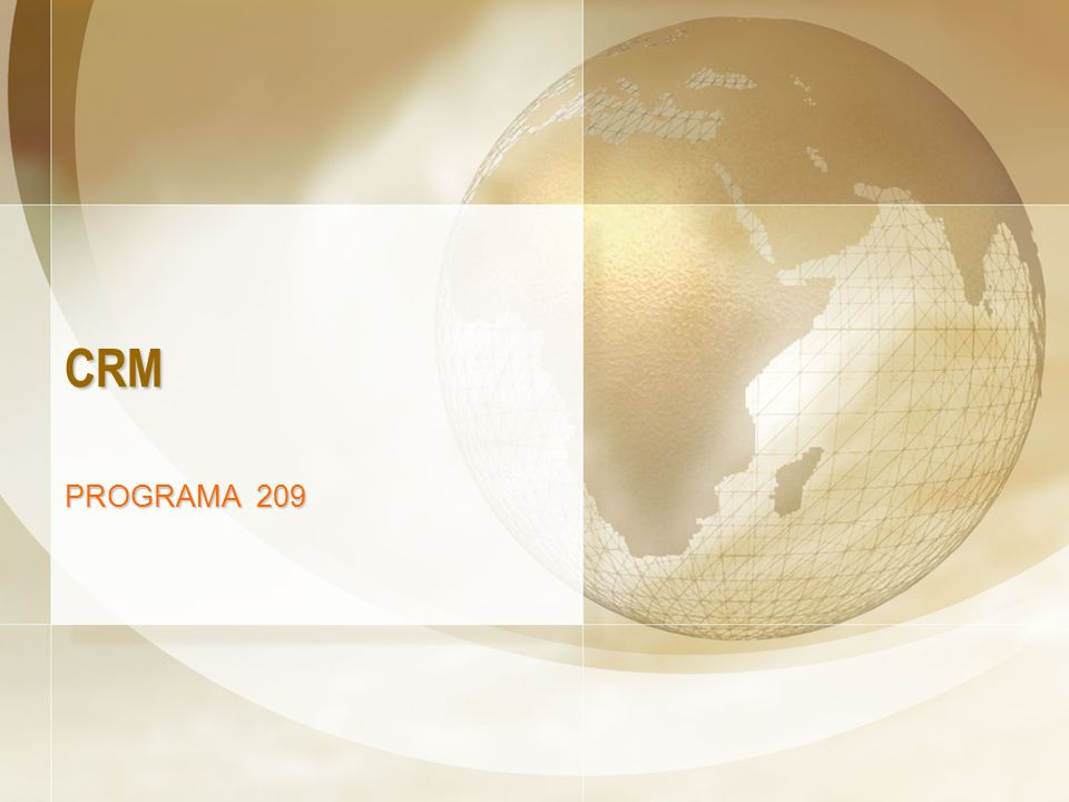 CRM PROGRAMA 209