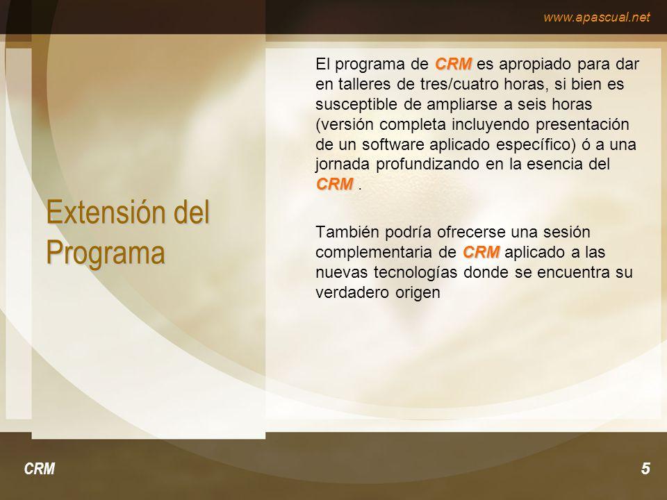 Extensión del Programa