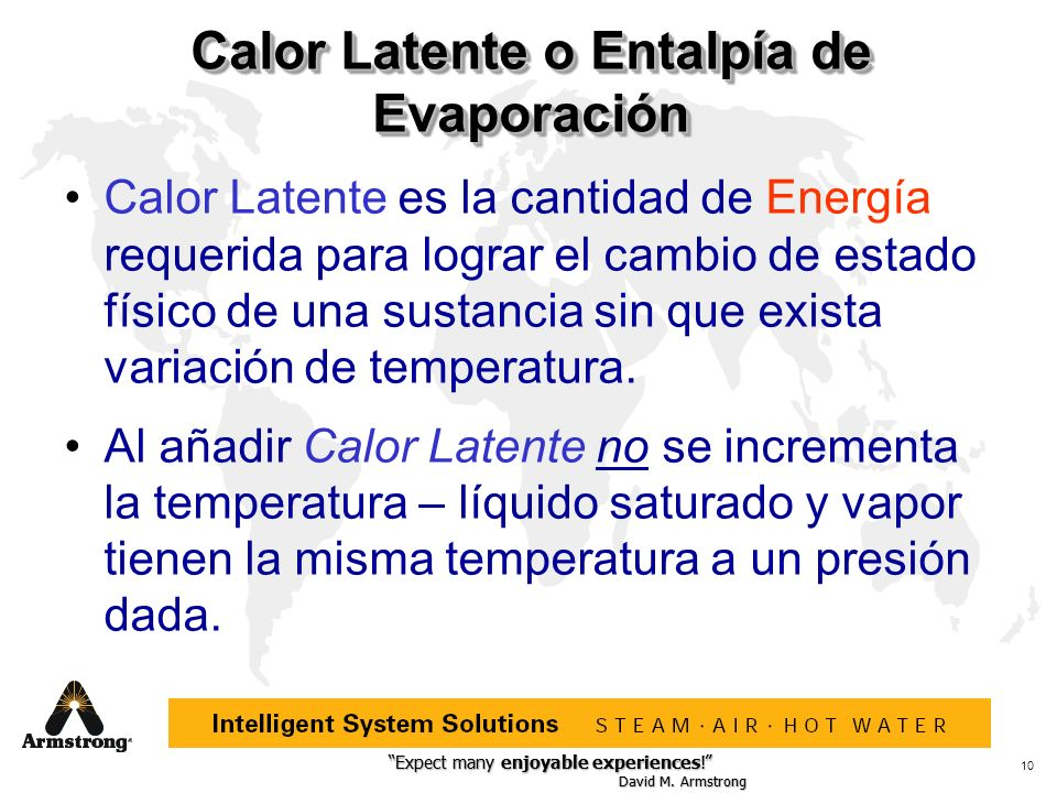 Calor Latente o Entalpía de Evaporación