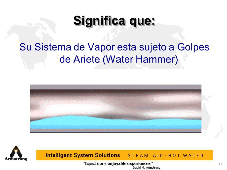 Su Sistema de Vapor esta sujeto a Golpes de Ariete (Water Hammer)