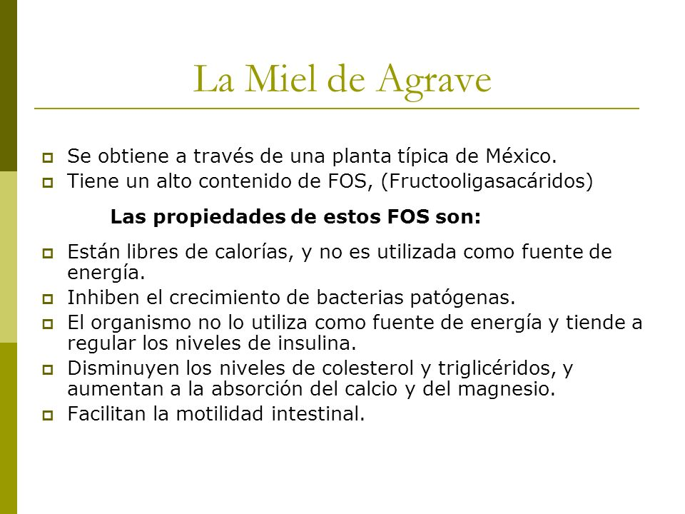 La Miel de Agrave Se obtiene a través de una planta típica de México.