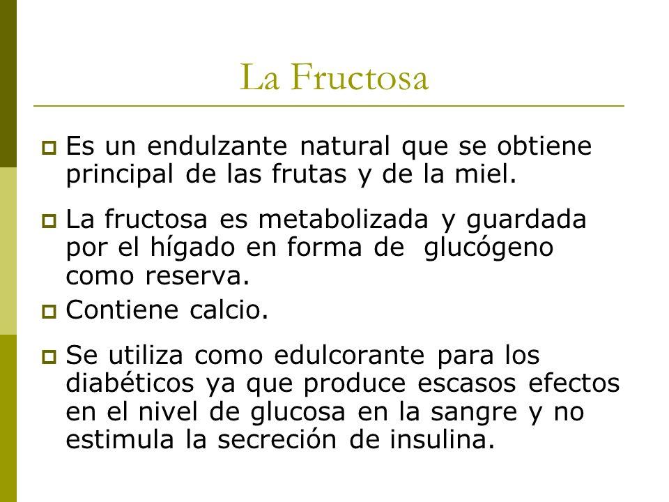 La Fructosa Es un endulzante natural que se obtiene principal de las frutas y de la miel.