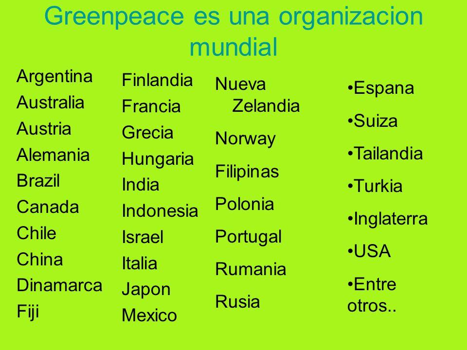 Greenpeace es una organizacion mundial