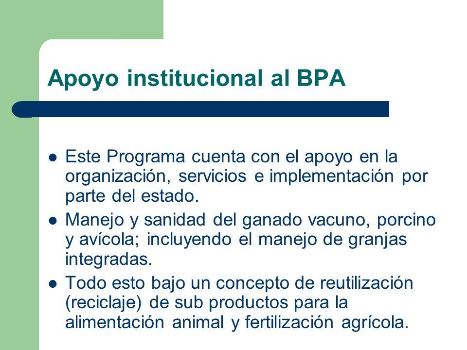 Apoyo institucional al BPA