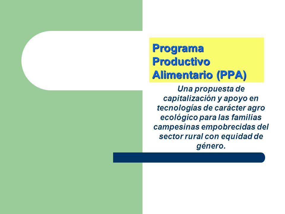 Programa Productivo Alimentario (PPA)