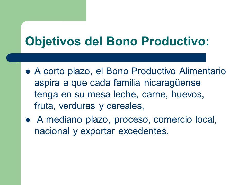 Objetivos del Bono Productivo: