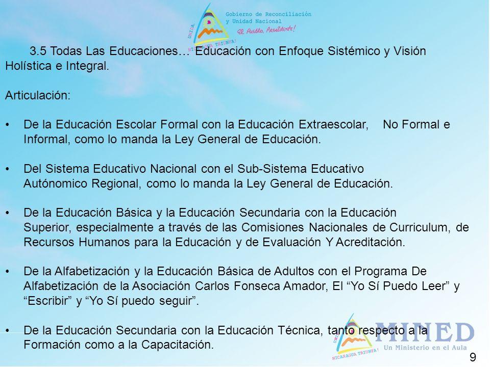3.5 Todas Las Educaciones… Educación con Enfoque Sistémico y Visión