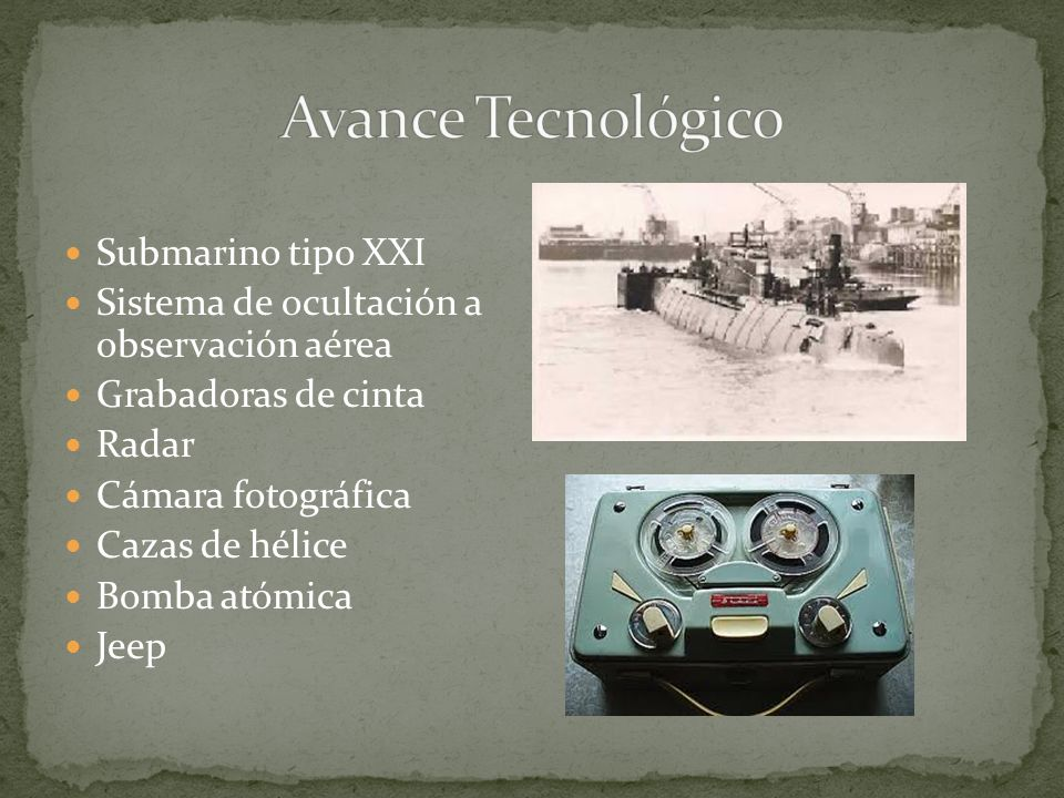 Avance Tecnológico Submarino tipo XXI