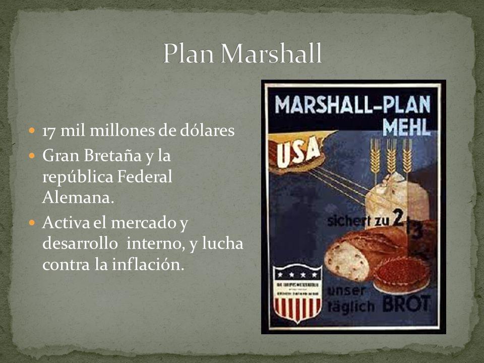 Plan Marshall 17 mil millones de dólares