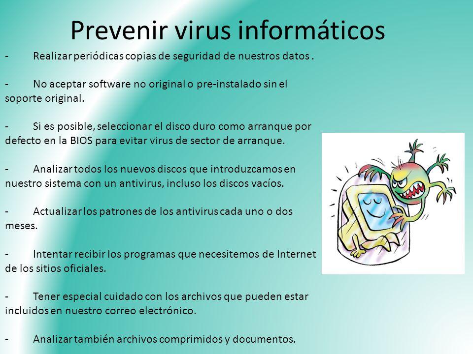 Prevenir virus informáticos