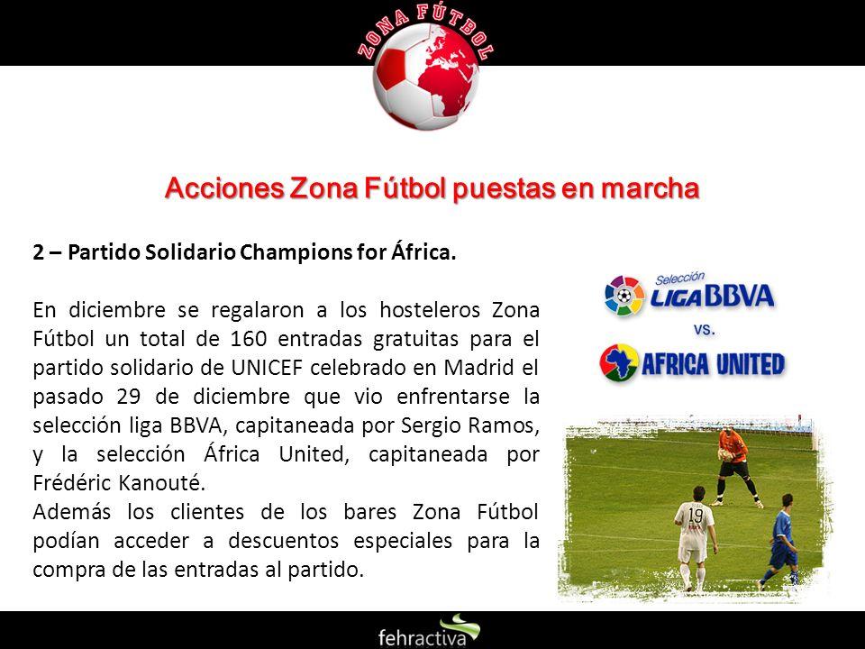Acciones Zona Fútbol puestas en marcha