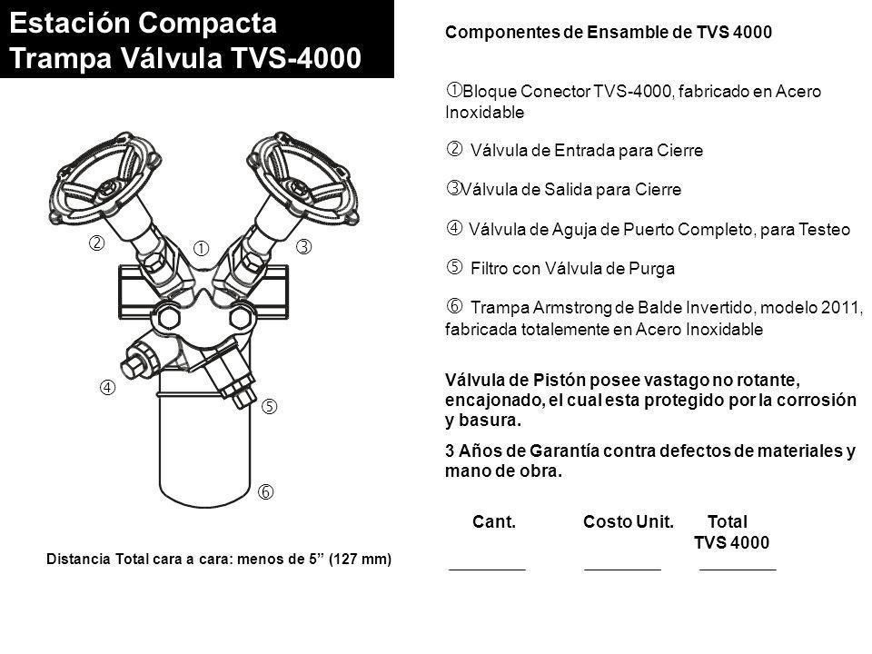 Estación Compacta Trampa Válvula TVS-4000