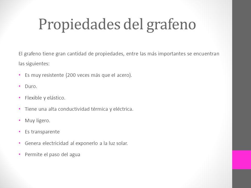 Propiedades del grafeno