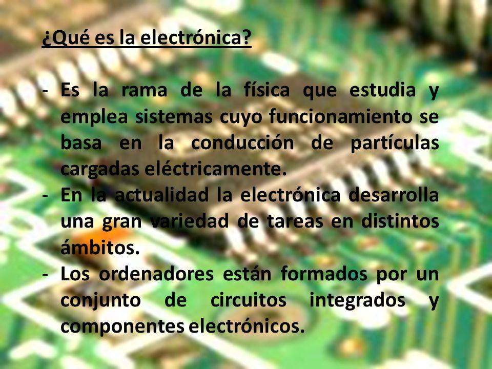¿Qué es la electrónica