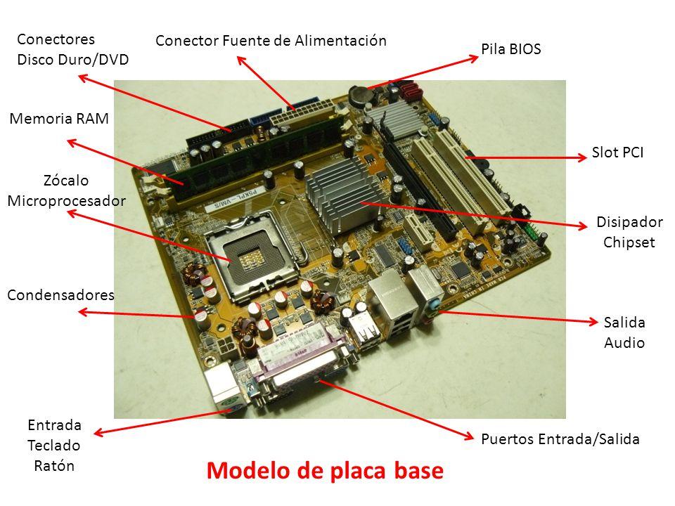 Modelo de placa base Conectores Disco Duro/DVD