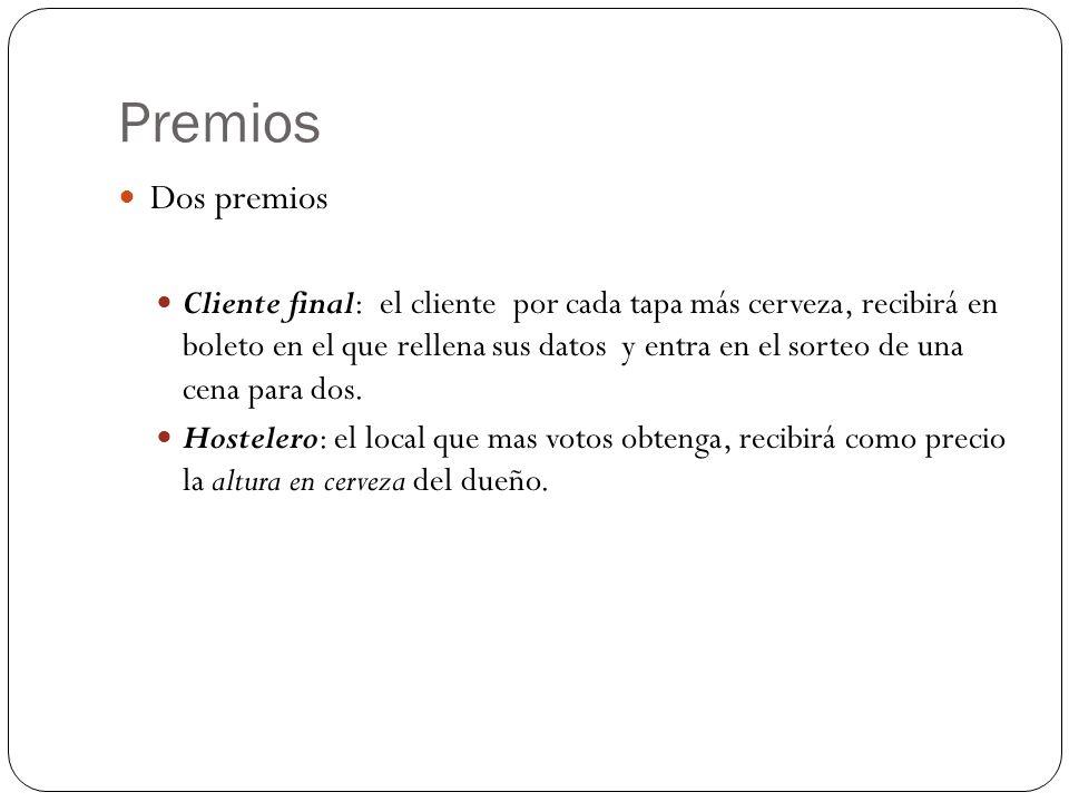 Premios Dos premios.