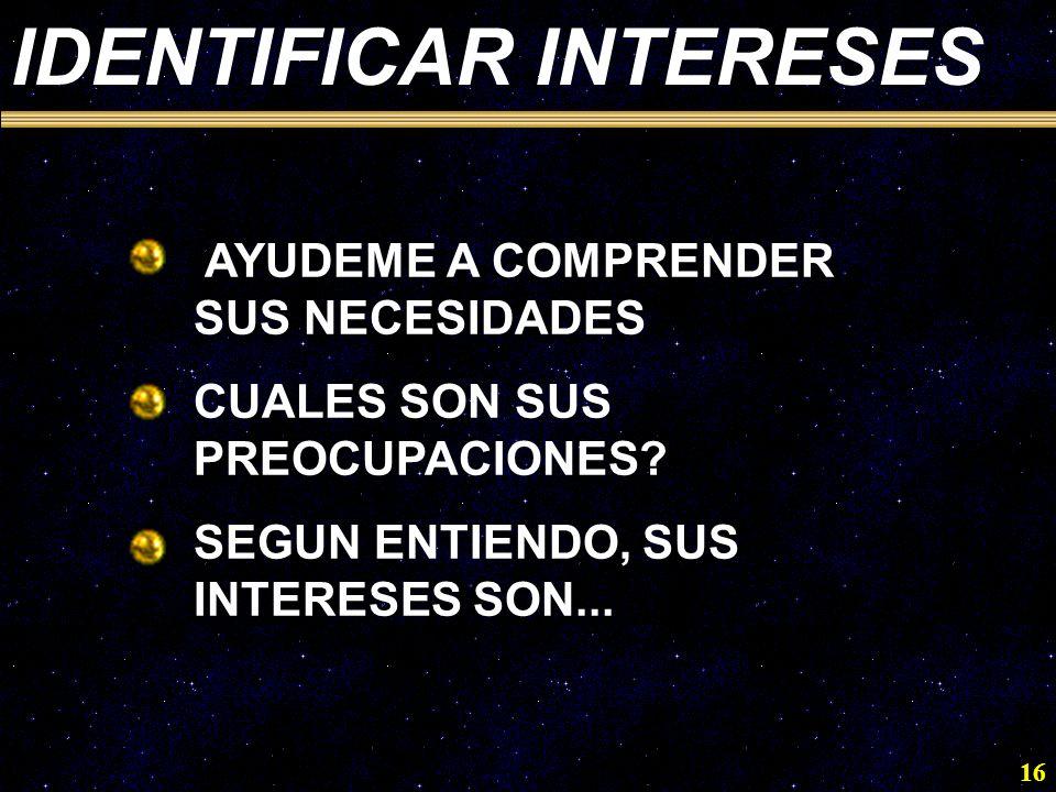 IDENTIFICAR INTERESES