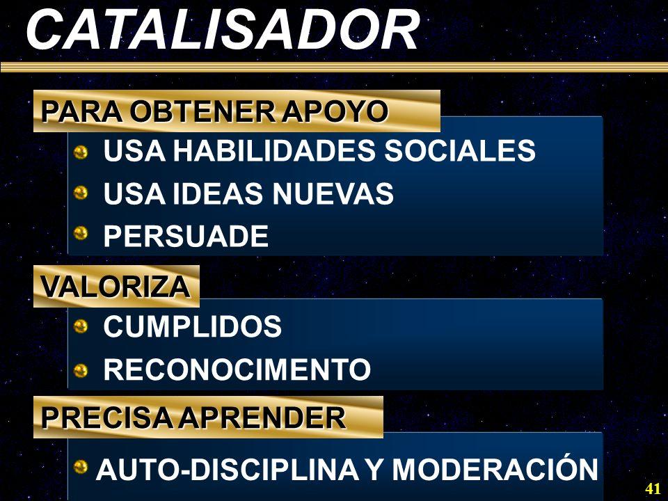 CATALISADOR PARA OBTENER APOYO USA HABILIDADES SOCIALES