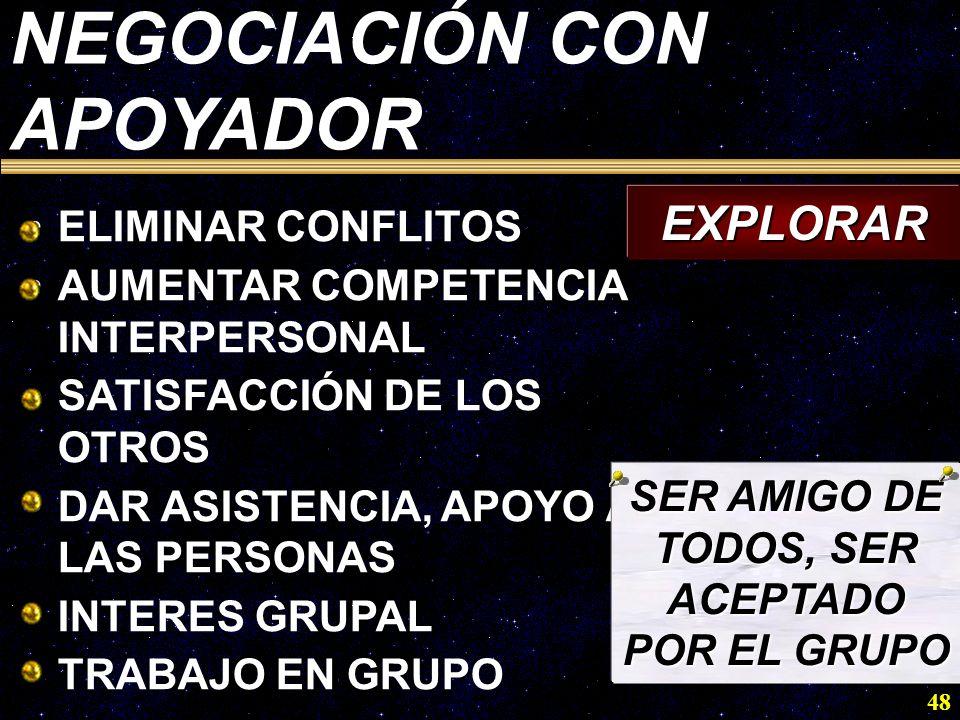 SER AMIGO DE TODOS, SER ACEPTADO POR EL GRUPO
