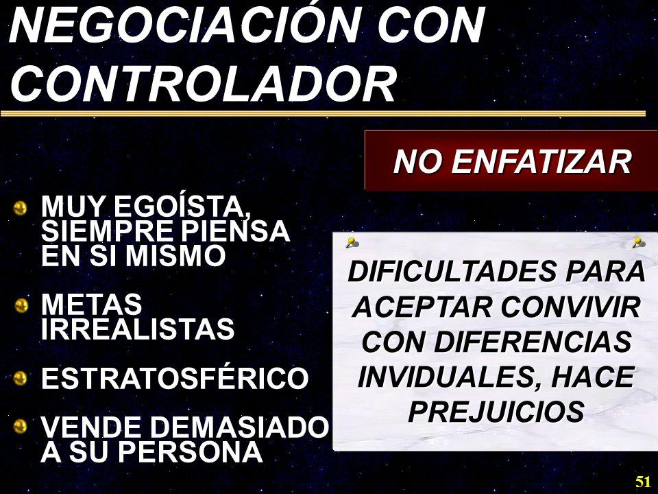 NEGOCIACIÓN CON CONTROLADOR NO ENFATIZAR
