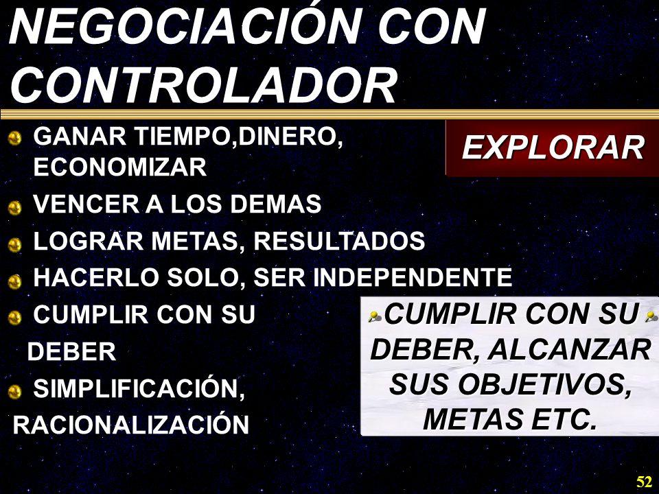 CUMPLIR CON SU DEBER, ALCANZAR SUS OBJETIVOS, METAS ETC.