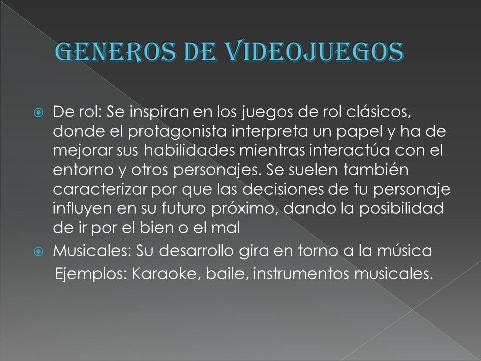 GENEROS DE VIDEOJUEGOS