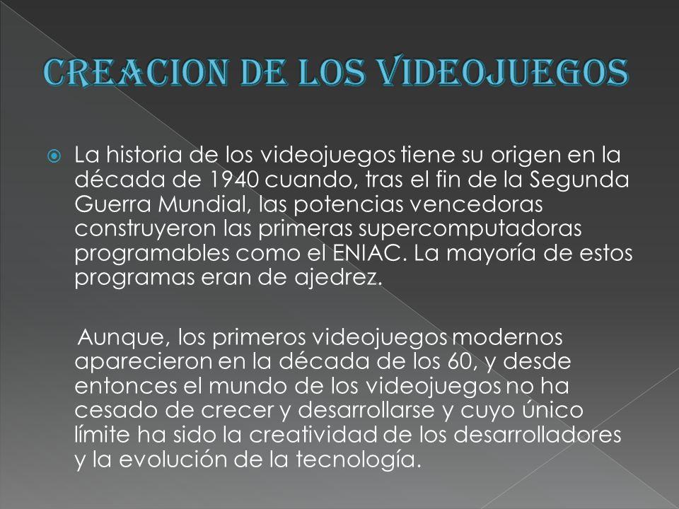 CREACION DE LOS VIDEOJUEGOS