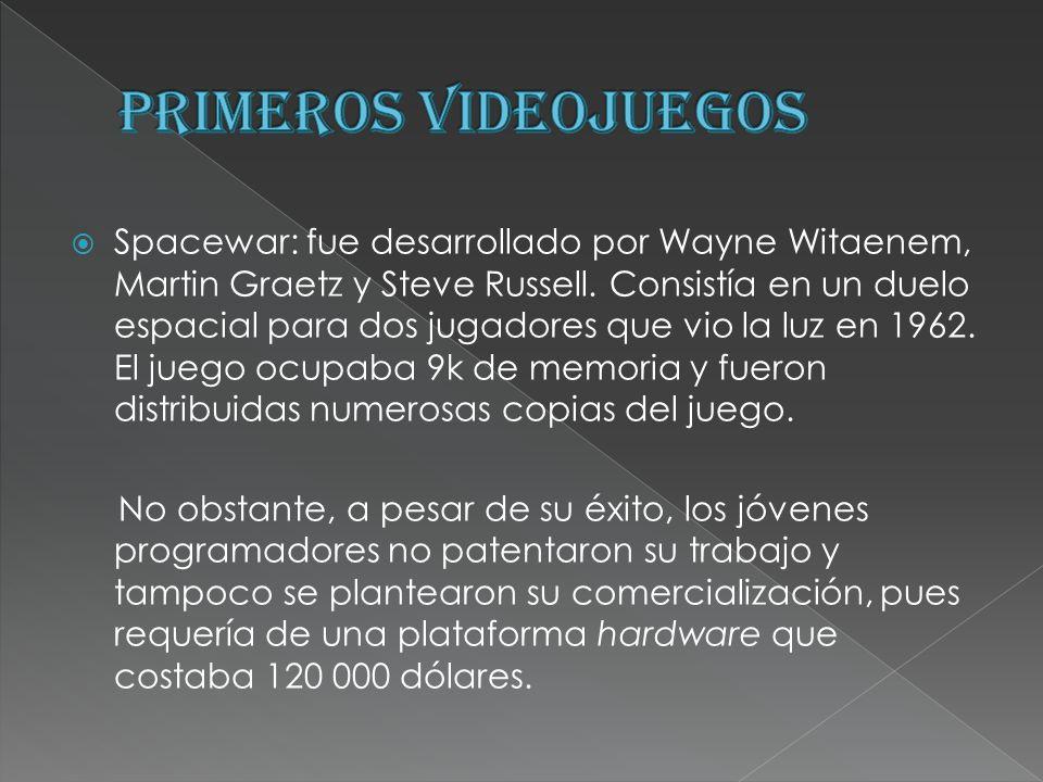 PRIMEROS VIDEOJUEGOS