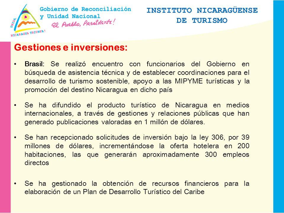 Gestiones e inversiones: